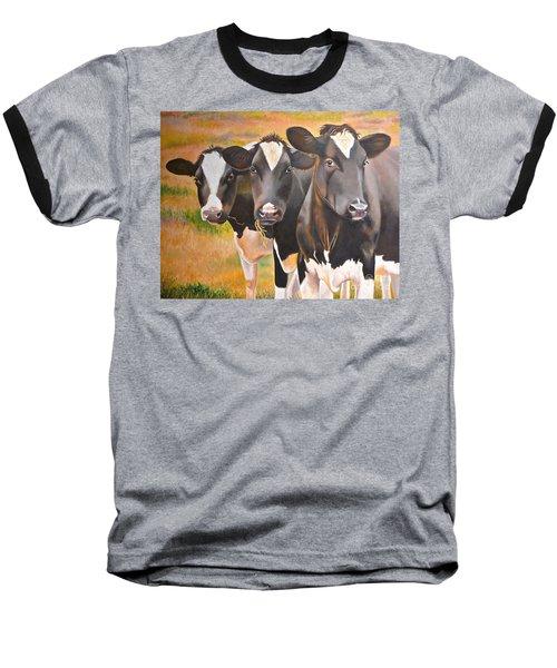 Curious Trio Baseball T-Shirt