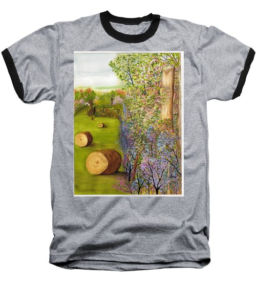 Dogwoods And Redbuds Baseball T-Shirt