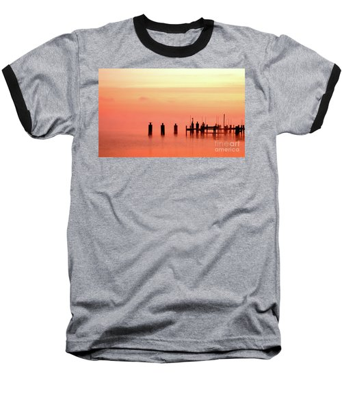Baseball T-Shirt featuring the photograph Eery Morn by Clayton Bruster