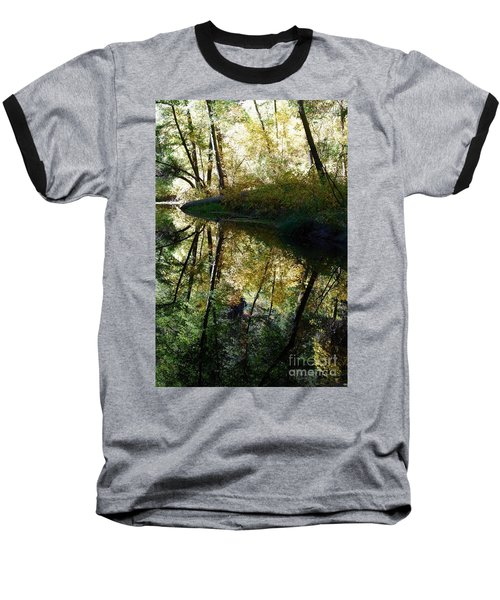 Baseball T-Shirt featuring the photograph Oak Creek Reflection by Tam Ryan