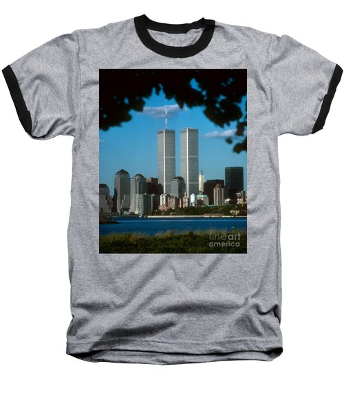View From Liberty State Park Baseball T-Shirt by Mark Gilman