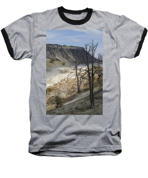 Yellowstone Nat'l Park Baseball T-Shirt by Henri Irizarri