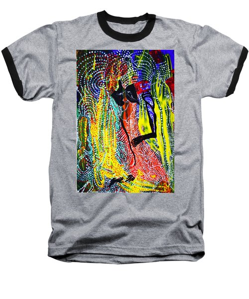 Baseball T-Shirt featuring the painting Jesus And Mary by Gloria Ssali
