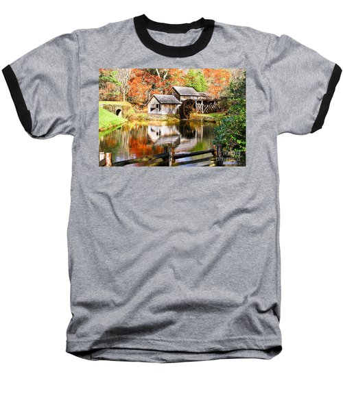 Mabry Mill Baseball T-Shirt by Ronald Lutz