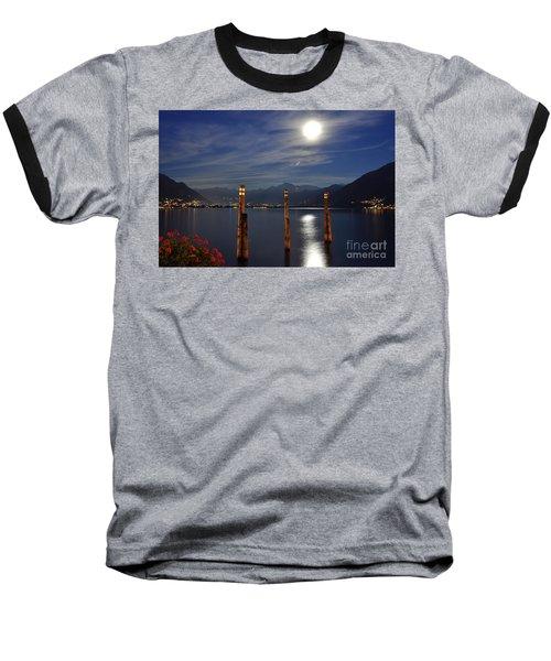 Moon Light Over An Alpine Lake Baseball T-Shirt
