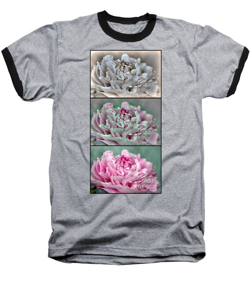 Peony Named Shirley Temple Baseball T-Shirt by J McCombie