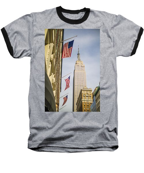 Baseball T-Shirt featuring the photograph Empire State Building by Theodore Jones