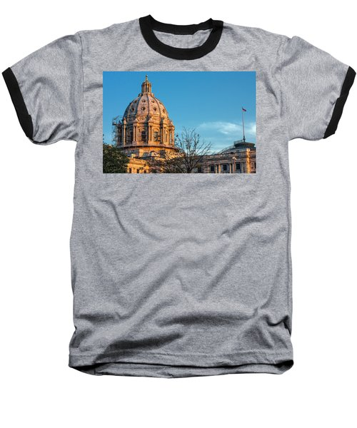 Baseball T-Shirt featuring the photograph A Capitol Evening by Tom Gort
