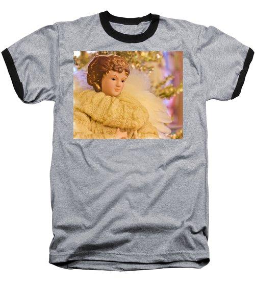 A Christmas Angel Baseball T-Shirt by Heidi Smith