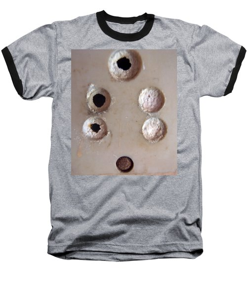 A Clogged Up 5 Point Electric Plug Point Baseball T-Shirt by Ashish Agarwal