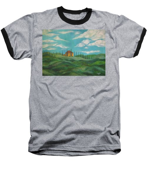 A Day In Tuscany Baseball T-Shirt by John Keaton