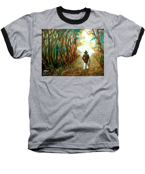 A Fall Walk In The Woods Baseball T-Shirt