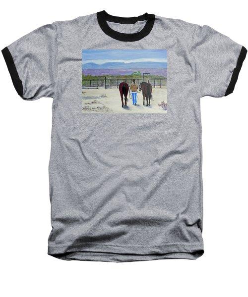 Texas - A Good Ride Baseball T-Shirt by Christine Lathrop