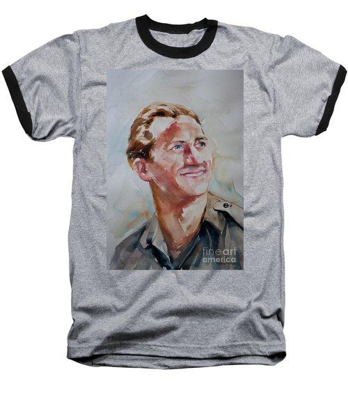 Baseball T-Shirt featuring the painting A Great Man by Barbara McMahon