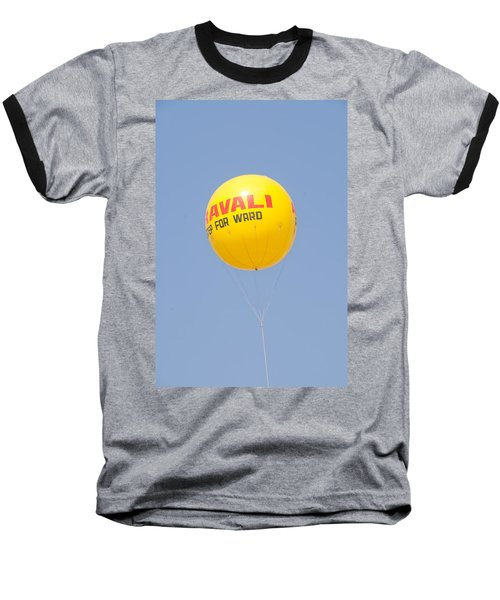 Baseball T-Shirt featuring the photograph A Hot Air Balloon In The Blue Sky by Ashish Agarwal