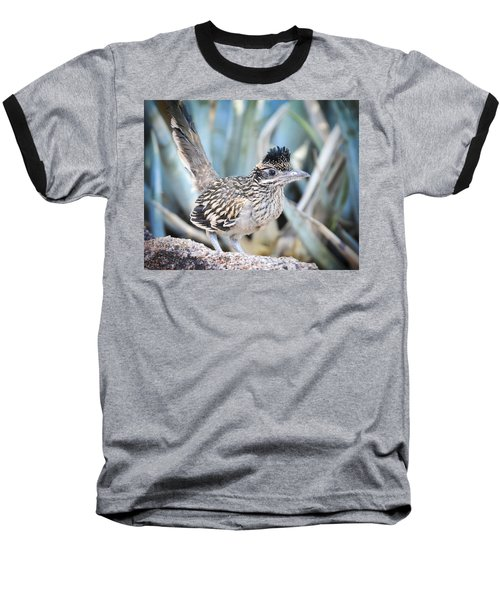 A Juvenile Greater Roadrunner  Baseball T-Shirt by Saija  Lehtonen