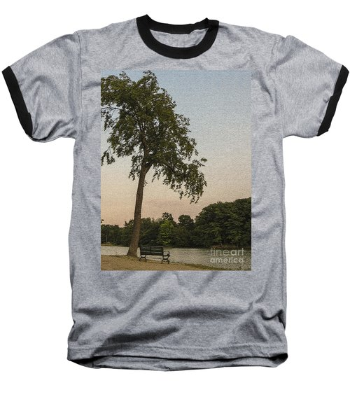 A Lonely Park Bench Baseball T-Shirt