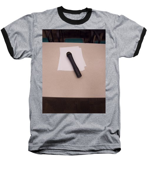 A Microphone On The Lectern Of A Presentation Room Baseball T-Shirt by Ashish Agarwal