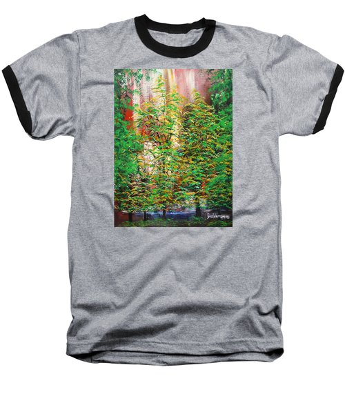 Baseball T-Shirt featuring the painting A Peaceful Place by Dan Whittemore