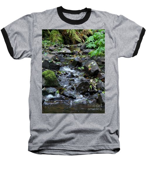 Baseball T-Shirt featuring the photograph A Peaceful Stream by Chalet Roome-Rigdon