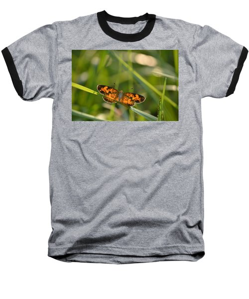 Baseball T-Shirt featuring the photograph A Pearl In The Grass by JD Grimes