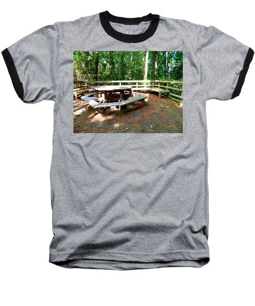 Baseball T-Shirt featuring the photograph A Place For Gathering by Ester  Rogers