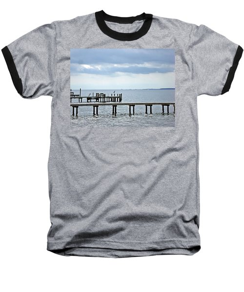 A Stormy Day On The Pamlico River Baseball T-Shirt