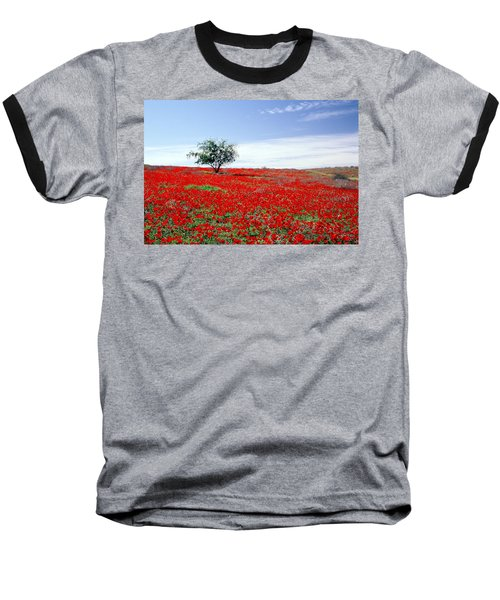 A Tree In A Red Sea Baseball T-Shirt