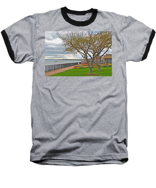 Baseball T-Shirt featuring the photograph A View From The Garden by Michael Frank Jr