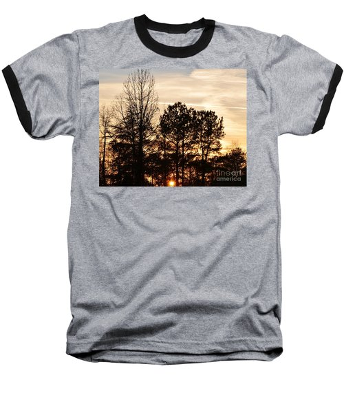 Baseball T-Shirt featuring the photograph A Winter's Eve by Maria Urso