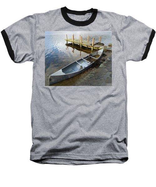 Baseball T-Shirt featuring the photograph Abandoned Canoe by Lynn Bolt