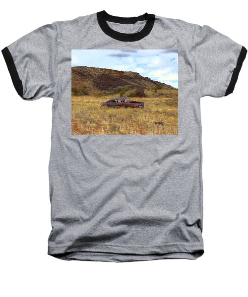 Baseball T-Shirt featuring the photograph Abandoned Car by Steve McKinzie