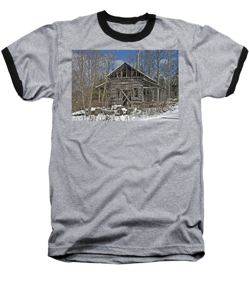 Abandoned House In Snow Baseball T-Shirt