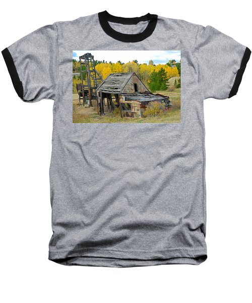 Abandoned Mine In Autumn Baseball T-Shirt