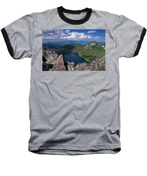 Above Castle Lake Baseball T-Shirt