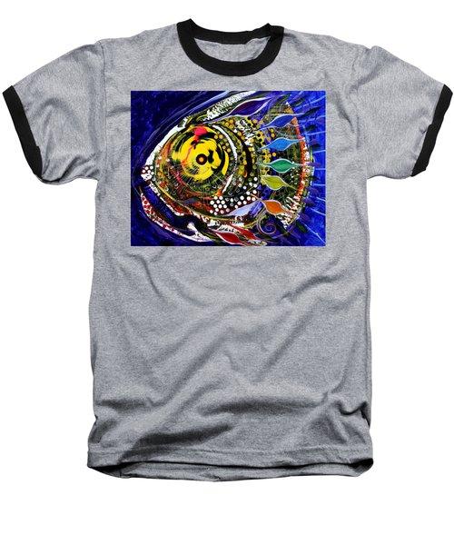 Abstract Busy Bee Fish Baseball T-Shirt