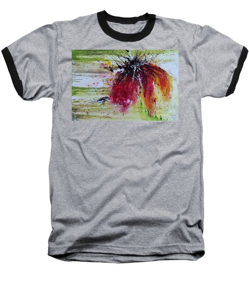 Baseball T-Shirt featuring the painting Abstract  Flower by Ismeta Gruenwald