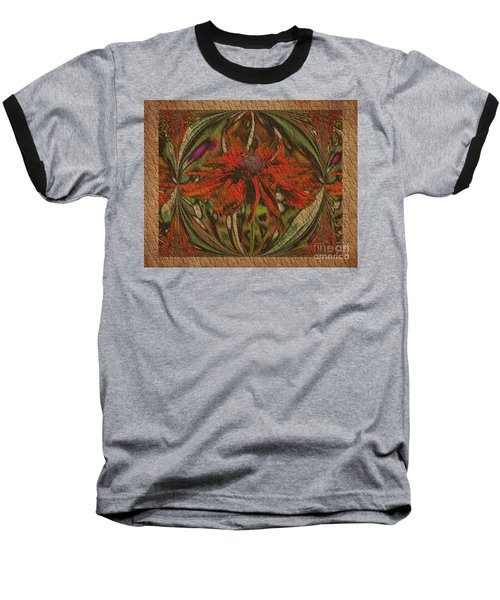 Abstract Flower Baseball T-Shirt by Smilin Eyes  Treasures