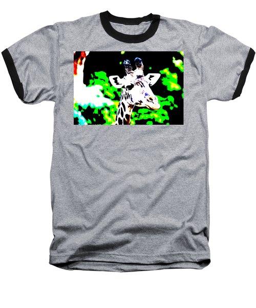 Abstract Giraffe Baseball T-Shirt