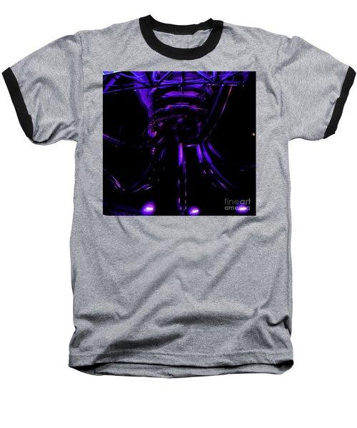 Abstract Invader Baseball T-Shirt by Clayton Bruster