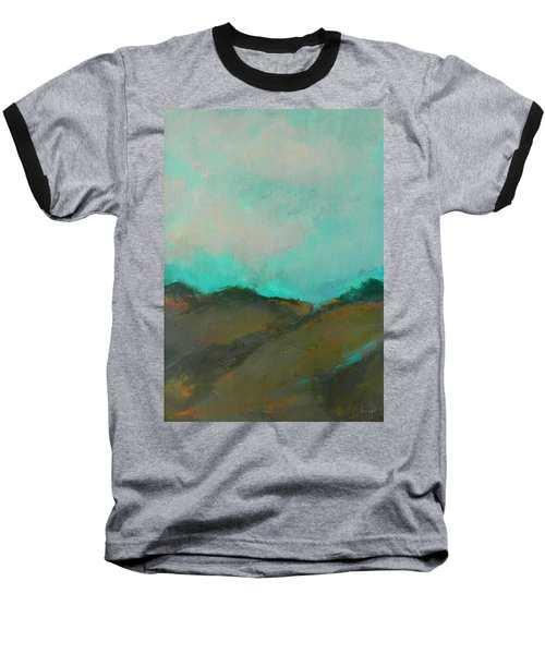 Abstract Landscape - Turquoise Sky Baseball T-Shirt