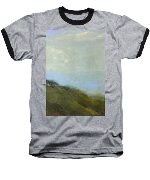 Abstract Landscape - Green Hillside Baseball T-Shirt