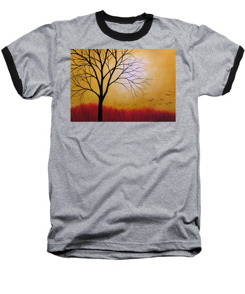 Baseball T-Shirt featuring the painting Abstract Original Tree Painting Summers Anticipation By Amy Giacomelli by Amy Giacomelli