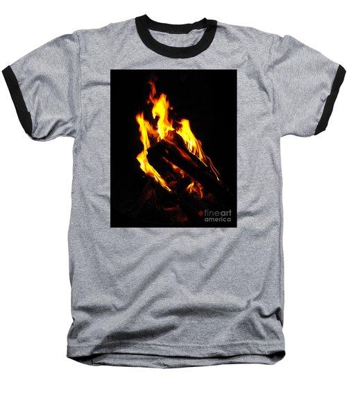 Abstract Phoenix Fire Baseball T-Shirt by Rebecca Margraf