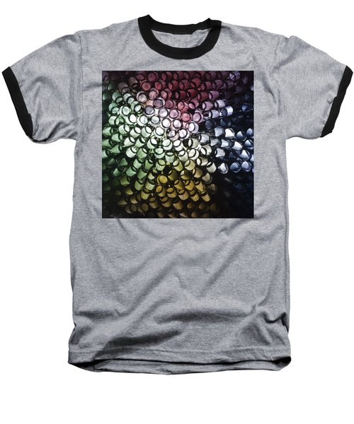 Baseball T-Shirt featuring the photograph Abstract Straws by Steve Purnell