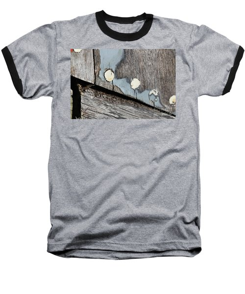 Abstract With Blue Baseball T-Shirt