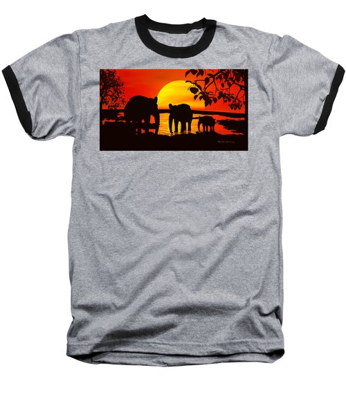 Africa Baseball T-Shirt by Robert Orinski
