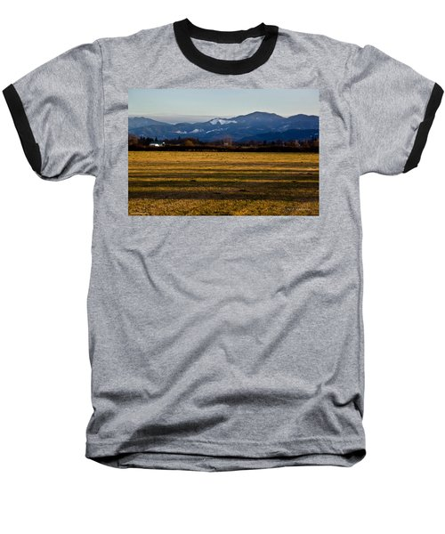Afternoon Shadows Across A Rogue Valley Farm Baseball T-Shirt by Mick Anderson