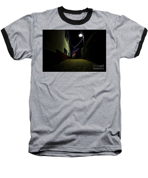 Alley With Lights Baseball T-Shirt