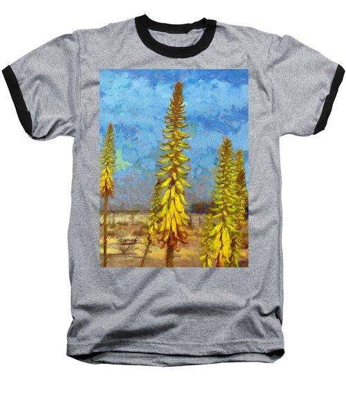 Aloe Vera Flowers Baseball T-Shirt